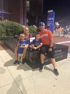 Christina attended University of Florida Gators Football vs. University of Tennessee-martin - NCAA Football on Sep 7th 2019 via VetTix