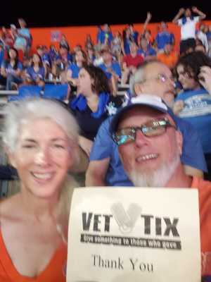 James attended University of Florida Gators Football vs. University of Tennessee-martin - NCAA Football on Sep 7th 2019 via VetTix