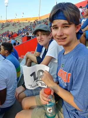 LAURA attended University of Florida Gators Football vs. University of Tennessee-martin - NCAA Football on Sep 7th 2019 via VetTix