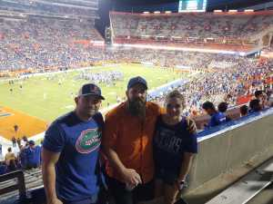 Cory Dean Shetters attended University of Florida Gators Football vs. University of Tennessee-martin - NCAA Football on Sep 7th 2019 via VetTix