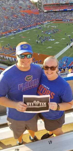 Shane attended University of Florida Gators Football vs. University of Tennessee-martin - NCAA Football on Sep 7th 2019 via VetTix