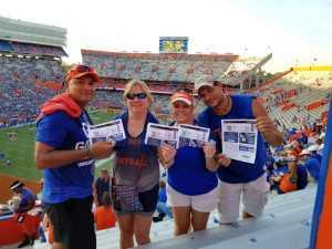 Tracy attended University of Florida Gators Football vs. University of Tennessee-martin - NCAA Football on Sep 7th 2019 via VetTix