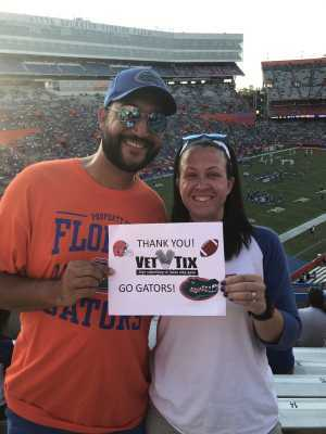 Adam attended University of Florida Gators Football vs. University of Tennessee-martin - NCAA Football on Sep 7th 2019 via VetTix