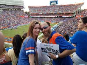 JASON attended University of Florida Gators Football vs. University of Tennessee-martin - NCAA Football on Sep 7th 2019 via VetTix