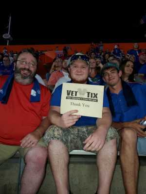 Ray Hamilton attended University of Florida Gators Football vs. University of Tennessee-martin - NCAA Football on Sep 7th 2019 via VetTix