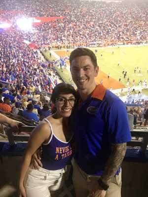 Clinton attended University of Florida Gators Football vs. University of Tennessee-martin - NCAA Football on Sep 7th 2019 via VetTix