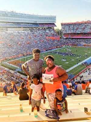 Shamekia attended University of Florida Gators Football vs. University of Tennessee-martin - NCAA Football on Sep 7th 2019 via VetTix