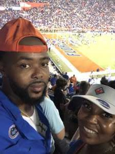 Shanaqua attended University of Florida Gators Football vs. University of Tennessee-martin - NCAA Football on Sep 7th 2019 via VetTix