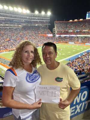 Jonathan attended University of Florida Gators Football vs. University of Tennessee-martin - NCAA Football on Sep 7th 2019 via VetTix