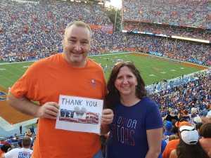 Timothy attended University of Florida Gators Football vs. University of Tennessee-martin - NCAA Football on Sep 7th 2019 via VetTix
