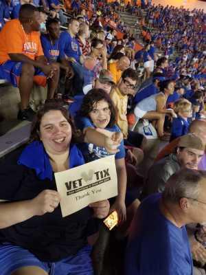Stacie attended University of Florida Gators Football vs. University of Tennessee-martin - NCAA Football on Sep 7th 2019 via VetTix