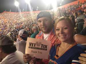 Michael attended University of Florida Gators Football vs. University of Tennessee-martin - NCAA Football on Sep 7th 2019 via VetTix