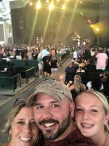 Brad attended Nelly, Tlc and Flo Rida on Aug 23rd 2019 via VetTix
