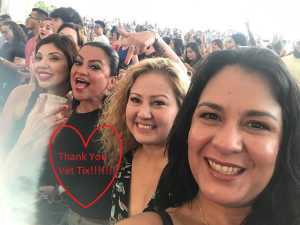 Crystal attended Nelly, Tlc and Flo Rida on Aug 23rd 2019 via VetTix