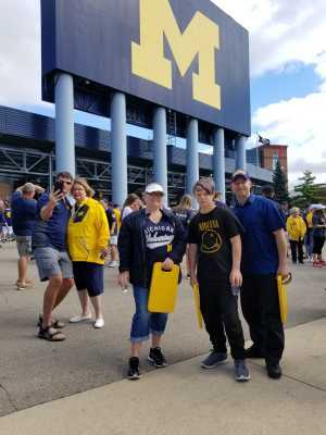 Michelle attended University of Michigan vs. Army - NCAA Football **military Appreciation Game** on Sep 7th 2019 via VetTix