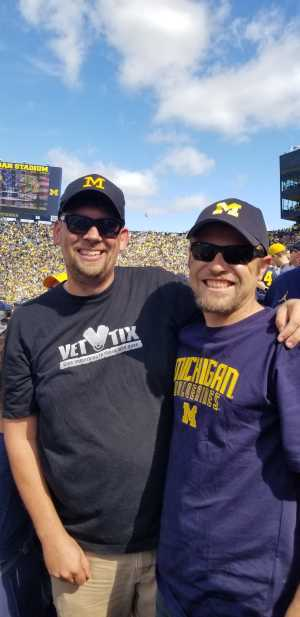 Michael attended University of Michigan vs. Army - NCAA Football **military Appreciation Game** on Sep 7th 2019 via VetTix