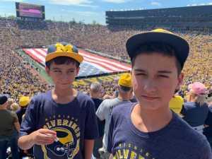Brandi attended University of Michigan vs. Army - NCAA Football **military Appreciation Game** on Sep 7th 2019 via VetTix