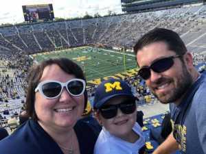 Chad attended University of Michigan vs. Army - NCAA Football **military Appreciation Game** on Sep 7th 2019 via VetTix