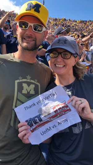 Kellen attended University of Michigan vs. Army - NCAA Football **military Appreciation Game** on Sep 7th 2019 via VetTix