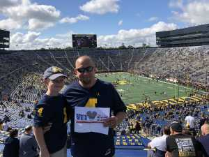jason attended University of Michigan vs. Army - NCAA Football **military Appreciation Game** on Sep 7th 2019 via VetTix