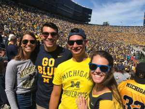 Tarin attended University of Michigan vs. Army - NCAA Football **military Appreciation Game** on Sep 7th 2019 via VetTix