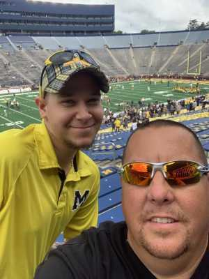 BRIAN attended University of Michigan vs. Army - NCAA Football **military Appreciation Game** on Sep 7th 2019 via VetTix