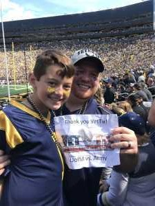 Charles attended University of Michigan vs. Army - NCAA Football **military Appreciation Game** on Sep 7th 2019 via VetTix