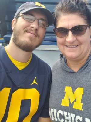 Jill attended University of Michigan vs. Army - NCAA Football **military Appreciation Game** on Sep 7th 2019 via VetTix