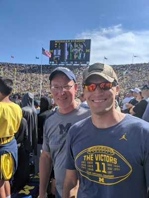 Jordan attended University of Michigan vs. Army - NCAA Football **military Appreciation Game** on Sep 7th 2019 via VetTix