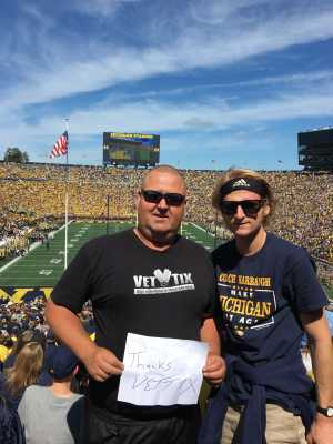 William attended University of Michigan vs. Army - NCAA Football **military Appreciation Game** on Sep 7th 2019 via VetTix
