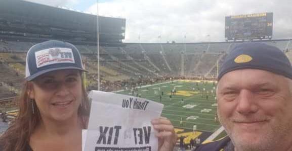 john attended University of Michigan vs. Army - NCAA Football **military Appreciation Game** on Sep 7th 2019 via VetTix