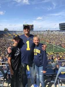 Blake attended University of Michigan vs. Army - NCAA Football **military Appreciation Game** on Sep 7th 2019 via VetTix