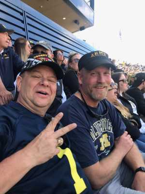 Martin attended University of Michigan vs. Army - NCAA Football **military Appreciation Game** on Sep 7th 2019 via VetTix