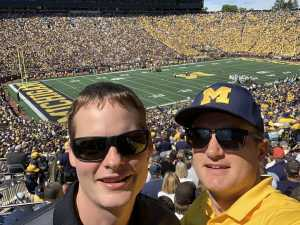 Christopher attended University of Michigan vs. Army - NCAA Football **military Appreciation Game** on Sep 7th 2019 via VetTix