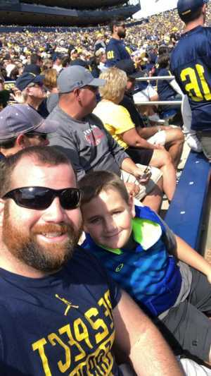 Travis attended University of Michigan vs. Army - NCAA Football **military Appreciation Game** on Sep 7th 2019 via VetTix
