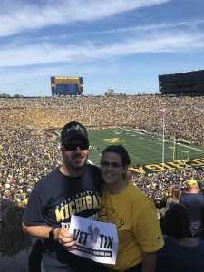 Greg attended University of Michigan vs. Army - NCAA Football **military Appreciation Game** on Sep 7th 2019 via VetTix