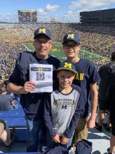 Scott attended University of Michigan vs. Army - NCAA Football **military Appreciation Game** on Sep 7th 2019 via VetTix