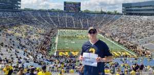 Colin attended University of Michigan vs. Army - NCAA Football **military Appreciation Game** on Sep 7th 2019 via VetTix