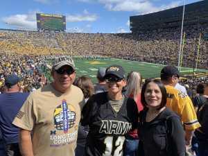 Tiffany attended University of Michigan vs. Army - NCAA Football **military Appreciation Game** on Sep 7th 2019 via VetTix