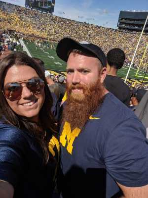 Cory attended University of Michigan vs. Army - NCAA Football **military Appreciation Game** on Sep 7th 2019 via VetTix