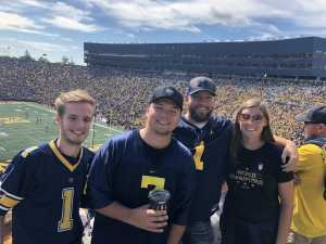 Eric attended University of Michigan vs. Army - NCAA Football **military Appreciation Game** on Sep 7th 2019 via VetTix