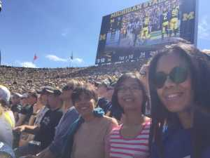 Maria attended University of Michigan vs. Army - NCAA Football **military Appreciation Game** on Sep 7th 2019 via VetTix