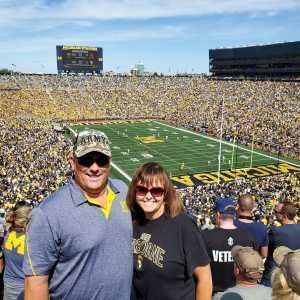 Pat attended University of Michigan vs. Army - NCAA Football **military Appreciation Game** on Sep 7th 2019 via VetTix