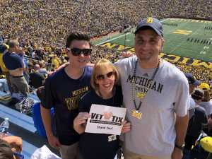 Benjamin attended University of Michigan vs. Army - NCAA Football **military Appreciation Game** on Sep 7th 2019 via VetTix