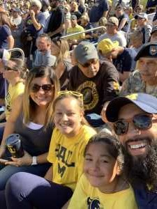 Michael attended University of Michigan vs. Army - NCAA Football **military Appreciation Game** on Sep 7th 2019 via VetTix