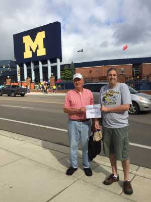 Bill attended University of Michigan vs. Army - NCAA Football **military Appreciation Game** on Sep 7th 2019 via VetTix