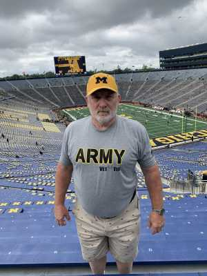 Jay attended University of Michigan vs. Army - NCAA Football **military Appreciation Game** on Sep 7th 2019 via VetTix