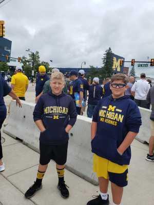 SGT. (R) Jake Beegle attended University of Michigan vs. Army - NCAA Football **military Appreciation Game** on Sep 7th 2019 via VetTix
