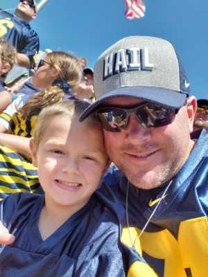 Dan Taylor attended University of Michigan vs. Army - NCAA Football **military Appreciation Game** on Sep 7th 2019 via VetTix