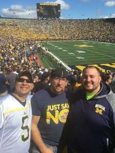 Anthony attended University of Michigan vs. Army - NCAA Football **military Appreciation Game** on Sep 7th 2019 via VetTix